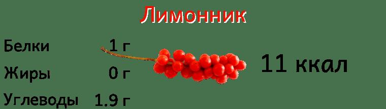 Калорийность лимонника