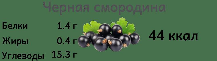 Калорийность черной смородины
